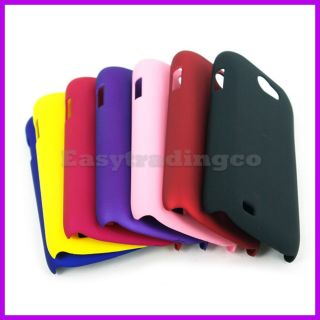 7x Hard Case Cover Samsung Galaxy w i8150 Black Blue Pink Purple Red Yellow
