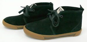UGG Australia Kids Boys Brockman Shoes Size 13 Youth Black Suede Casual