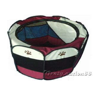 New Pet Dog Cat Tent Puppy Playpen Exercise Play Pen Crate Carrier Enclosure CAG
