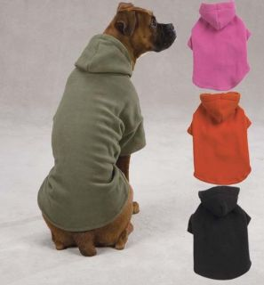 Casual Canine Dog Pet Puppy Fleece Hoodie Hooded Winter Warm Sweatshirt 9 Sizes