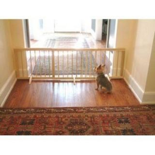 Cardinal Light Oak Wood Freestanding Free Standing Step Over Pet Dog Gate