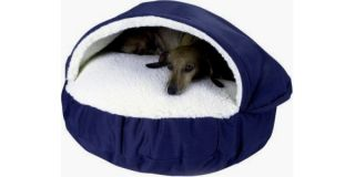 "Brand New Extra Large 45"" Round Navy Thick Plush Big Pet Dog Cave Bed"