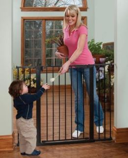 Kidco Extra Tall Wide Gateway Pressure Mounted Dog Pet Child Gate Black G1201