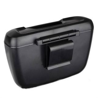 Black Auto Car Vehicle RV Truck Trash Can Garbage Dust Holder Box Easy Clean