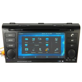 2003 2009 Mazda 3 Car GPS Navigation Radio TV Bluetooth USB  iPod DVD Player