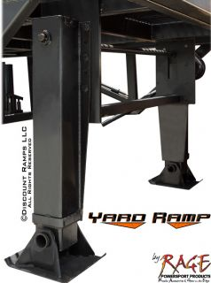 Steel Yard Ramp 22000lb Forklift Truck Trailer Rail Car Dock Loading RYR 37 22