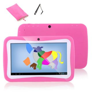 "7"" Android 4 0 Preschool Education Fun Capacitive Tablet PC 4GB Child Bag Pen"