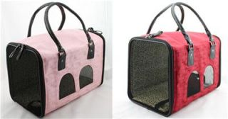 Wholesale Luxury Comfort Pet Carriers for Small Dog Airline Travel Bags Pink Red