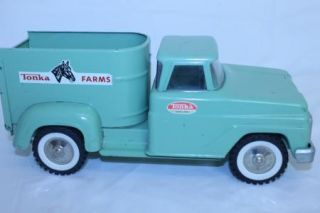 Vintage Tonka Farms Horse Trailer Truck Mound Minn Light Mint Green 311060