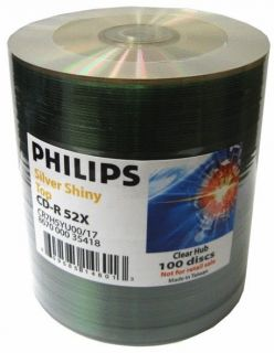 600 CDMRPHST CD Recordable Discs Philips Shiny Top CD R 52x CDR Audio Data