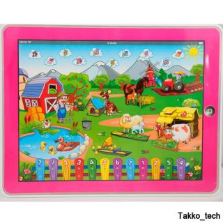 Farm Computer Y Pad English Learning Education Tablet Toy Gift for Kids New Pink