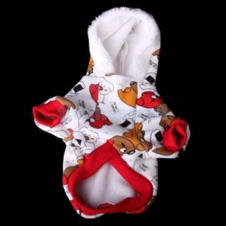 Pet Dog Puppy Hooded Bears Pattern Coat Jacket Clothing Clothes Apparel Size S