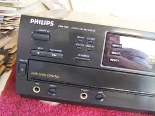 Philips CDR 785 3 CD Changer Compact Disc Player Recorder CDR785