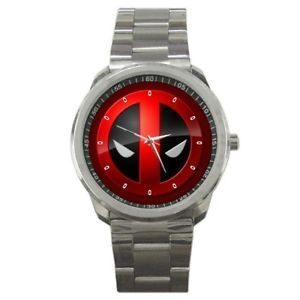 Deadpool Superhero Stainless Steel Watch Great Gift