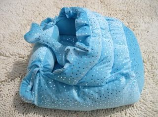 New Pretty Pet Dog Cat Bed House Coral Kennel Pink Blue