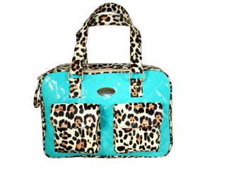 New Petcare Leopard Print Pet Small Dog Cat Bag Carrier Tote Blue