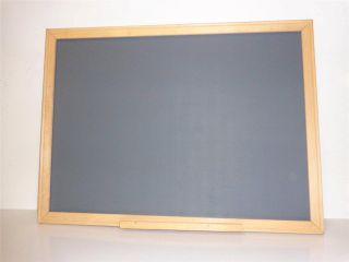 Vintage 24 x 36 Chalkboard Message Board with Wood Frame Shelf Chalk