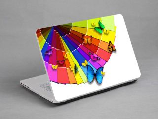 Laptop Notebook Sticker Skin Deco Colorful Butterfly 14 1 15 4 inch Dell HP Sony