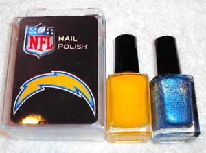 San Diego Chargers NFL Team Color Nail Polish Set New
