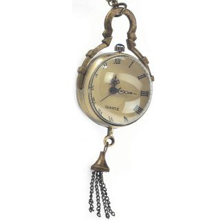 New Victorian Dome Watch Antiqued Brass Pendant Steampunk Retro Vintage Classic