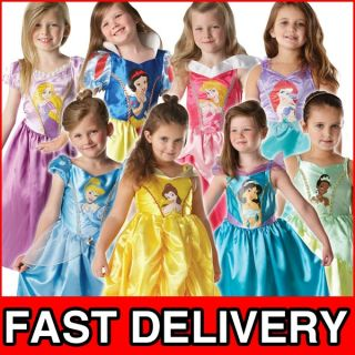 Disney Princess Girls Fancy Dress Kids Costume Childrens Child Outfit 3 8 Years
