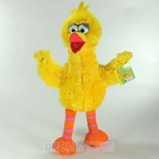 "Sesame Street Muppets Big Bird 9 5"" Fuzzy Plush Doll Stuffed Figure Small"