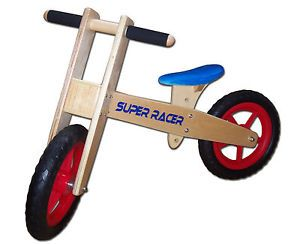 Childrens Kids Girls Boys Wooden Balance Training First Bike