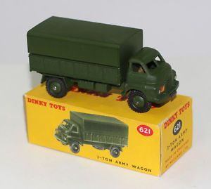 Military Dinky Toys 621 3 Ton Army Truck Early Issue with Driver