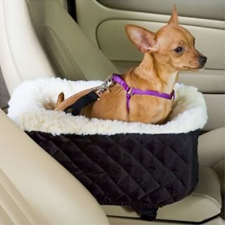 Snoozer Safety Console Lookout Pet Ride Dog Car Seat Small Hot Pink Vinyl