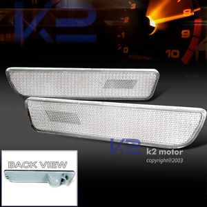 2005 2009 Ford Mustang Euro Clear Rear Side Marker Bumper Parking Lights