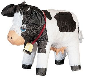 Cow Pinata Farm Animal Themed Birthday Party Games Supplies