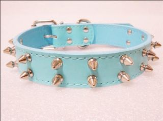 Brand New Colorful Spiked Studded Leather Dog Collars for Large Dog Pitbull