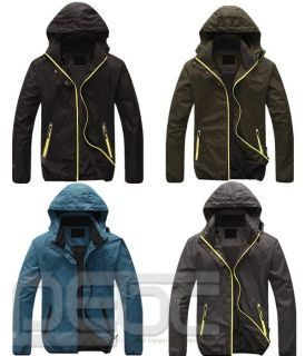 Men' Top Waterproof Windstoper Outdoor Hooded Coat Jacket Travel Hiking Mountain
