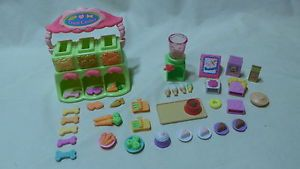 Littlest Pet Shop LPS Treat Center Ice Cream Dispenser w Lots of Food EXTRAS