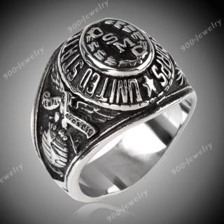 1pc Stainless Steel United States Marine Corps USMC Military Ring
