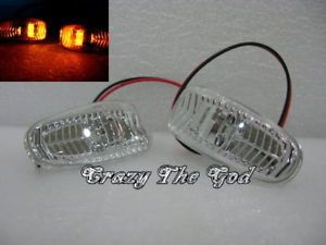 W210 95 02 Chrome Clear LED Side Marker Light Mercedes