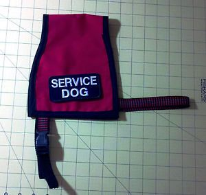Service Dog Vest Medium Adjustable Therapy Dog Red
