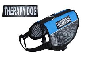 Therapy Dog Service Dog Vest Harness Small Med Large Comes with 2 Velcro Patches