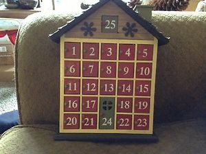Christmas Advent Calendar House for Countdown Treats