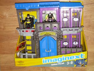 2012 Fisher Price Imaginext DC Super Friends Gotham City Jail w Bane Batman