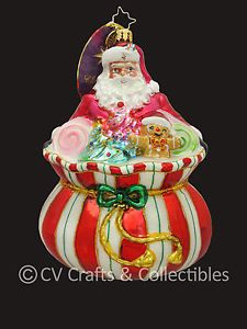 Christopher Radko Candy Treats Sweet Tooth Santa 1016595 Ornament 2013 Intro