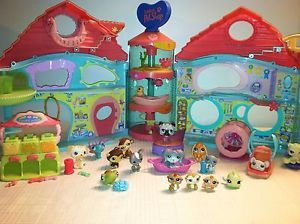 Biggest Littlest Pet Shop Play Set House Treat Center Food Accessories Lot LPS