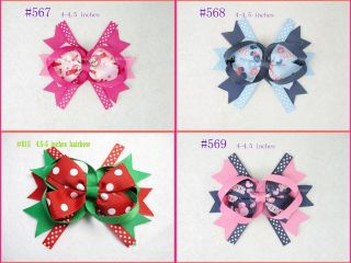 Lots 10 Baby Infant Girl Costume Boutique Hair Bows Clips 4 4 5""