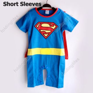 Baby Kids Toddler Superman Boy Onesie Bodysuit Romper Jumpsuit Halloween Costume