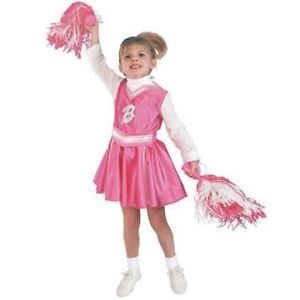 Toddler 2 4 Girls Barbie Cheerleader Halloween Costume