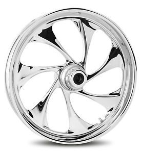 "RC Components Drifter Chrome 21"" Wheels Package Set Tires 4 Harley 09 Up FLHT FL"