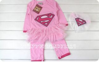 Baby Party Fancy Dress Outfit Romper Costume Superman Batman Boys Girls 0 15M