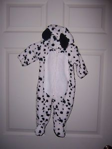Size 3 6 Month Dalmation Puppy Dog Costume Footed Hooded One Piece Baby Grand