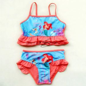 2T Baby Girls Kids Princess Ariel Mermaid Swimsuit Tankini Bathing Swim Costume
