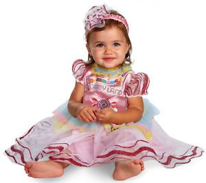 Infant Baby Girls Fun Candyland Halloween Costume Dress 12 18 Months